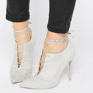 ASOS high heel lace up pointy shoes